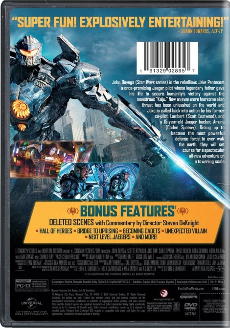 'Pacific Rim: Uprising'; Arrives On Digital June 5 & On 4K Ultra HD, 3D Blu-ray, Blu-ray & DVD June 19, 2018 From Universal 10