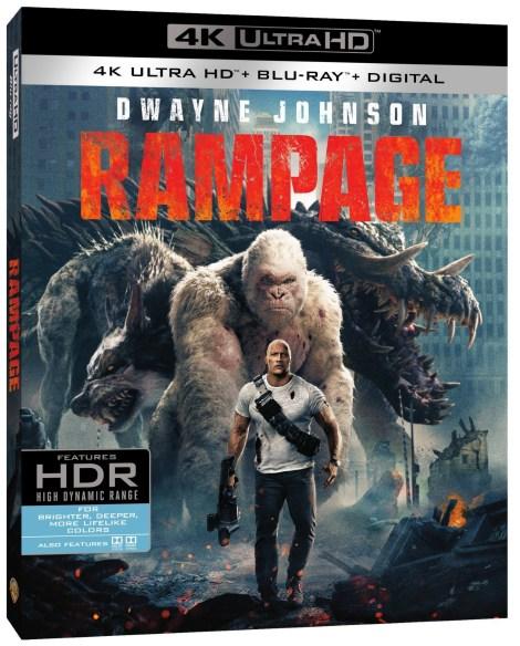 'Rampage'; Arrives On Digital June 26 & On 4K Ultra HD, 3D Blu-ray, Blu-ray & DVD July 17, 2018 From Warner Bros 3