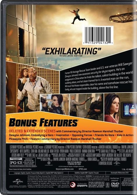 'Skyscraper'; Arrives On Digital September 25 & On 4K Ultra HD, 3D Blu-ray, Blu-ray & DVD October 9, 2018 From Universal 14