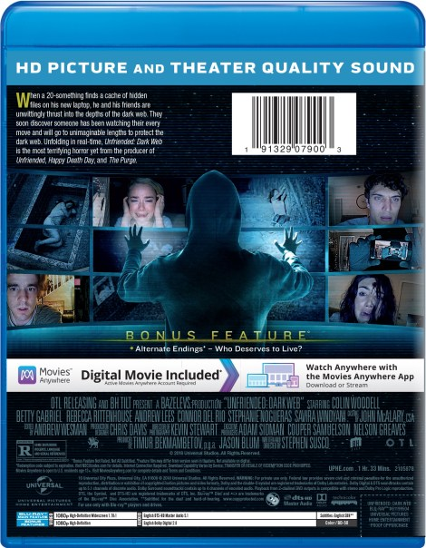 'Unfriended: Dark Web'; Arrives On Digital October 2 & On Blu-ray & DVD October 16, 2018 From Universal 6