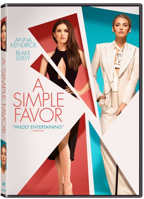 'A Simple Favor'; The Paul Feig Directed Thriller Arrives On Digital December 11 & On 4K Ultra HD, Blu-ray & DVD December 18, 2018 From Lionsgate 7