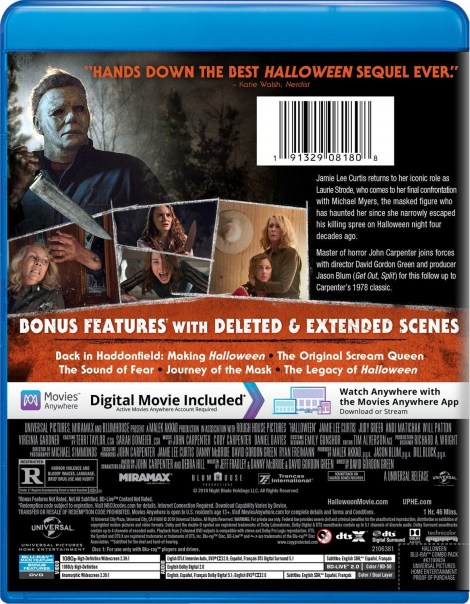 'Halloween'; The Acclaimed Sequel Arrives On Digital December 28, 2018 & On 4K Ultra HD, Blu-ray & DVD January 15, 2019 From Universal 20