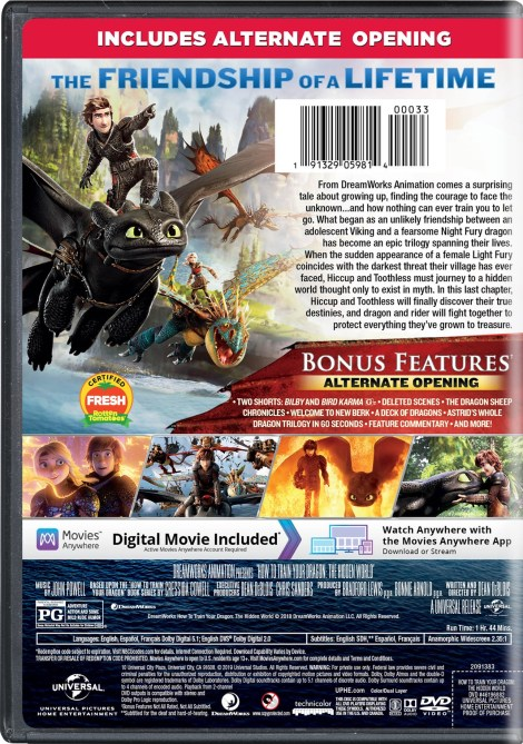 =New Digital Release Date= 'How To Train Your Dragon: The Hidden World'; Arrives On Digital April 30 & On 4K Ultra HD, Blu-ray & DVD May 21, 2019 From Dreamworks & Universal 12