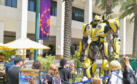 Check Out Photos From Bumblebee's Arrival At WonderCon Anaheim On Friday To Celebrate The Film's Home Entertainment Debut 1