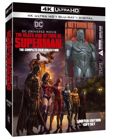 'The Death And Return Of Superman'; The Complete Film Collection Arrives On 4K Ultra HD & Blu-ray October 1, 2019 From DC & Warner Bros 2