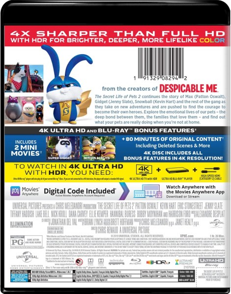 'The Secret Life Of Pets 2'; Arrives On Digital August 13 & On 4K Ultra HD, Blu-ray & DVD August 27, 2019 From Illumination & Universal 4