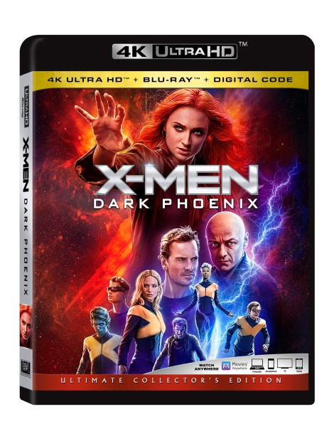 'X-Men: Dark Phoenix'; Arrives On Digital September 3 & On 4K Ultra HD, Blu-ray & DVD September 17, 2019 From Marvel & Fox 4