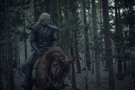 person on horse, trees, woods