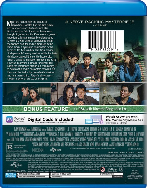 Parasite; Bong Joon Ho's Oscar Nominated Film Arrives On Blu-ray & DVD January 28, 2020 & Is Now Available On Digital From Universal 6