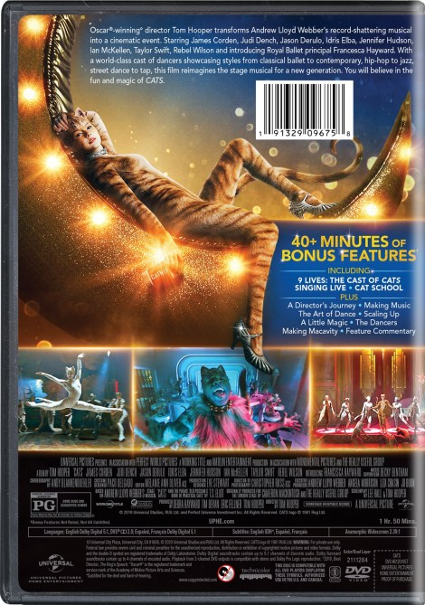 CATS; Arrives on Digital March 17 & On Blu-ray & DVD April 7, 2020 From Universal 5