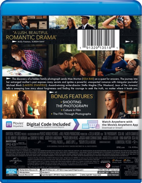 The Photograph; Arrives On Digital April 28 & On Blu-ray & DVD May 12, 2020 From Universal 3