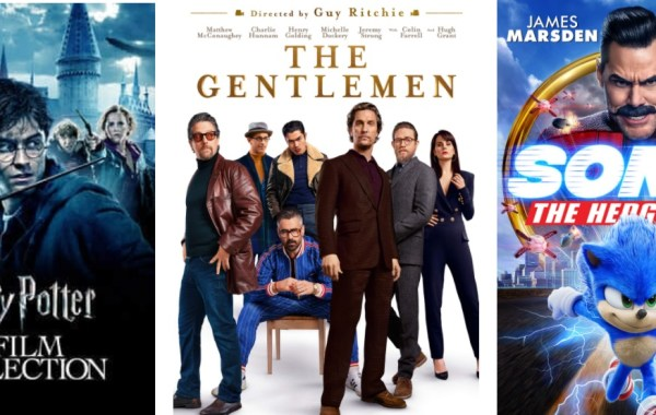 DEG's Watched At Home Top 20 04/23/20, The Gentlemen, Sonic The Hedgehog, Harry Potter 8-Film Collection image