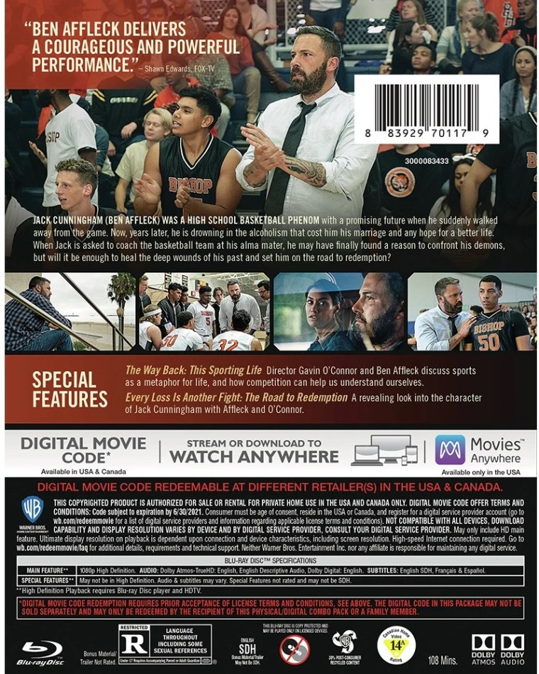 The Way Back; Arrives On Blu-ray & DVD May 19, 2020 From Warner Bros 9