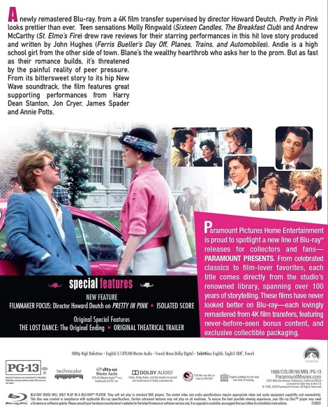 Pretty In Pink; Debuting On Blu-ray As Part Of The Paramount Presents Line June 16, 2020 From Paramount 3