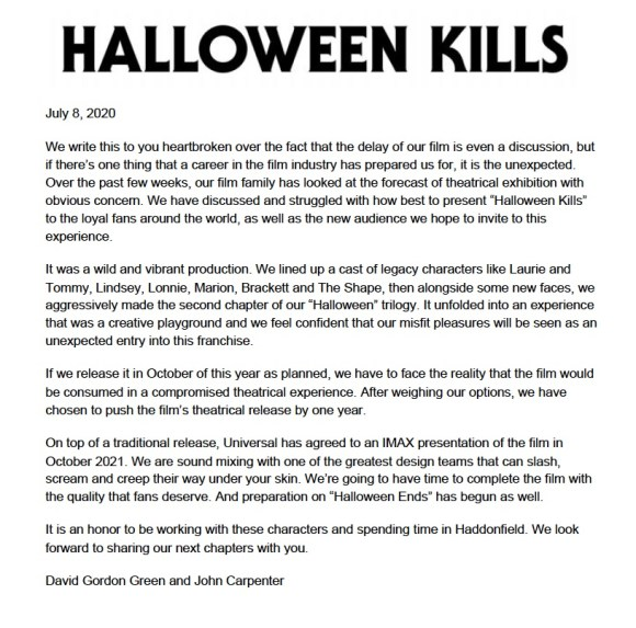 'Halloween Kills', 'Halloween Ends' & 'The Forever Purge' Each Pushed Back 1 Year; New Teaser Released For 'Halloween Kills' 2