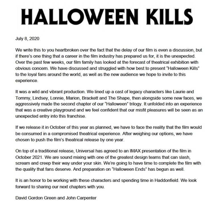 'Halloween Kills', 'Halloween Ends' & 'The Forever Purge' Each Pushed Back 1 Year; New Teaser Released For 'Halloween Kills' 6