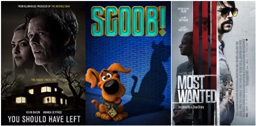 DEG Watched At Home Top 20 List For 08/06/20: You Should Have Left, Deep Blue Sea 3, Most Wanted 5