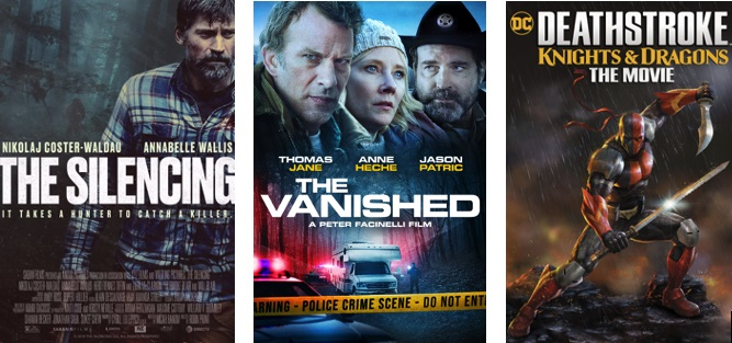 DEG Watched At Home Top 20 List For 08/27/20: The Silencing, Deathstroke: Knights & Dragons 5