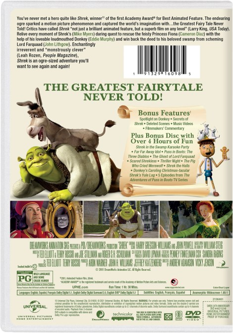 Shrek: 20th Anniversary Edition; Debuts On 4K Ultra HD & On Blu-ray & DVD May 11, 2021 From DreamWorks - Universal 18