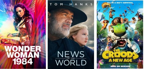 DEG Watched At Home Top 20 List For 04/09/21: Wonder Woman 1984, News Of The World 1