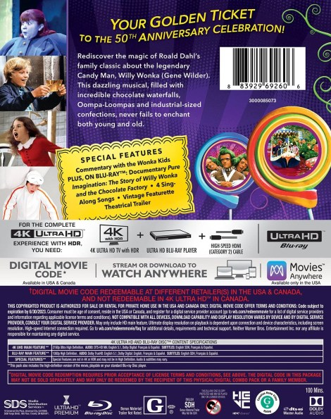 'Willy Wonka And The Chocolate Factory'; The Gene Wilder Led Classic Debuts On 4K Ultra HD June 29, 2021 From Warner Bros 3