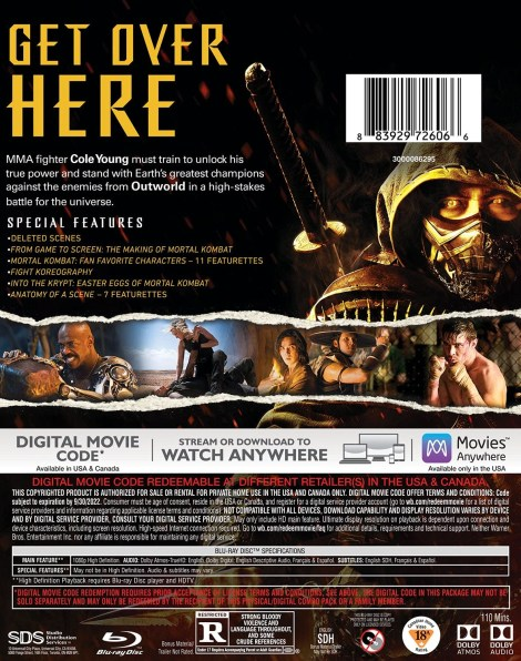 'Mortal Kombat'; The New Film Arrives On Digital June 11 & On 4K Ultra HD, Blu-ray & DVD July 13, 2021 From Warner Bros 8