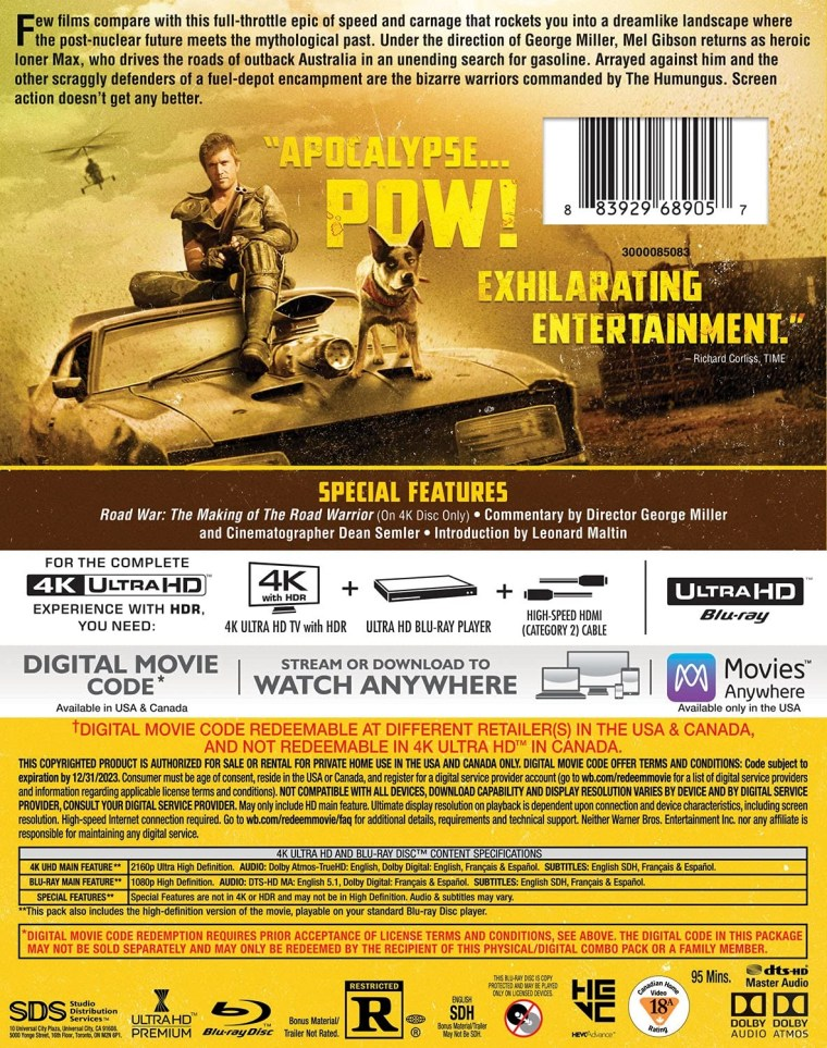 =New Release Date= The 'Mad Max' Anthology; Now Arriving On 4K Ultra HD & Digital November 16, 2021 From Warner Bros 10