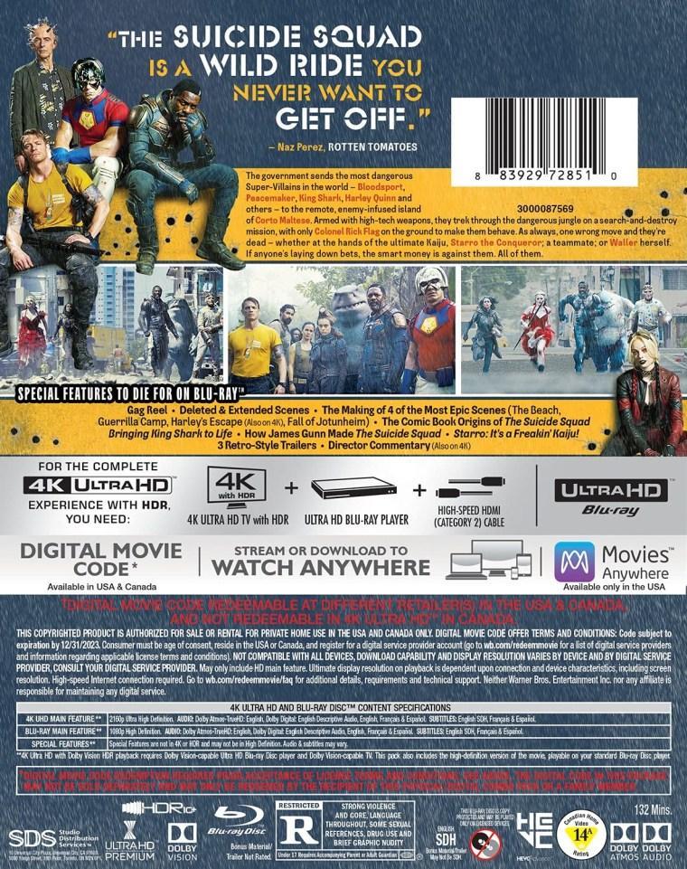 'The Suicide Squad'; Arrives On Digital September 17 & On 4K Ultra HD, Blu-ray & DVD October 26, 2021 From DC - Warner Bros 8