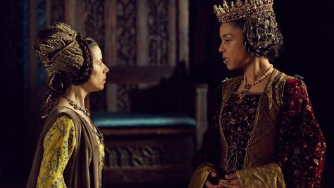 Right: Sophie Okonedo as Queen Margaret