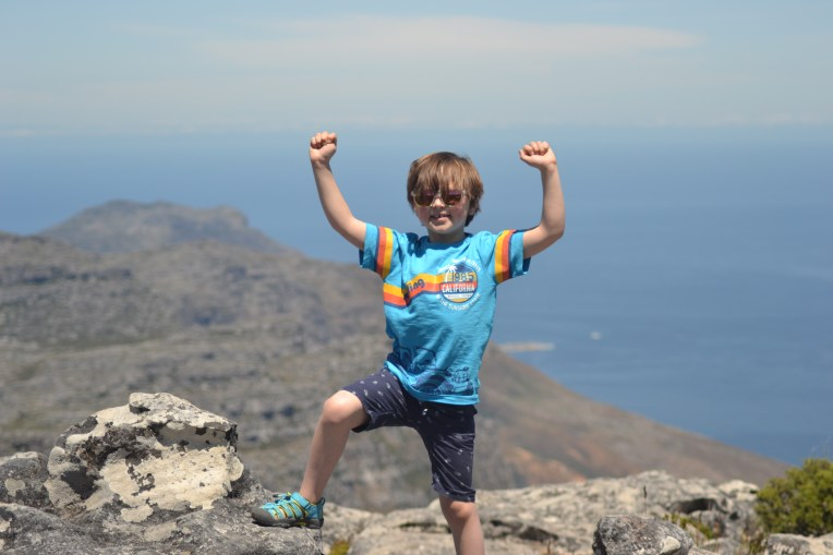 King of the world on top of Table Mountain