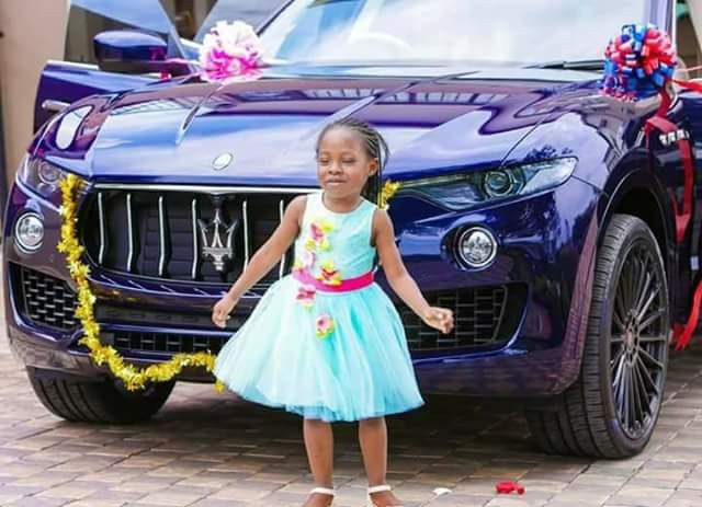 South Africa Based Pastor Prophet Shepherd Bushiri Bought A Flashy Car Maserati For His Little Daughter Isrealla On Her Birthday Wednesday