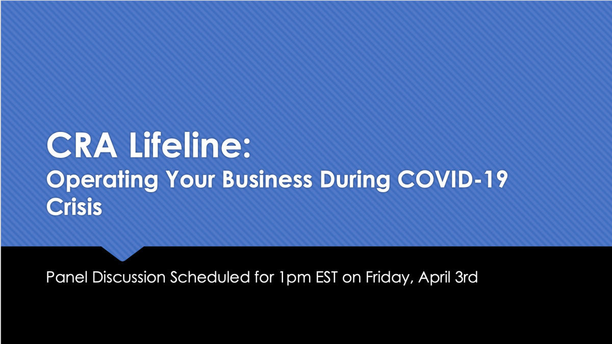 Webinar: Operating Your CRA During COVID-19 Crisis