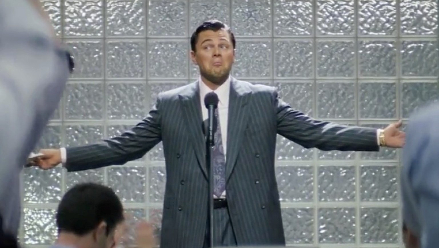 wolf of wall street dicaprio shrug