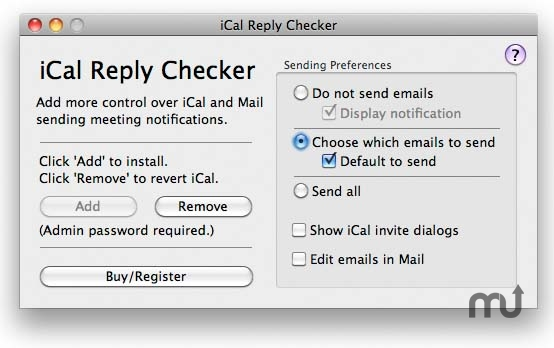 Screenshot 1 For Ical Reply Checker