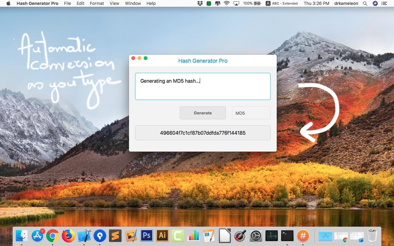 Hash Generator Pro for Mac 1.0 破解版 - 哈希值生成工具