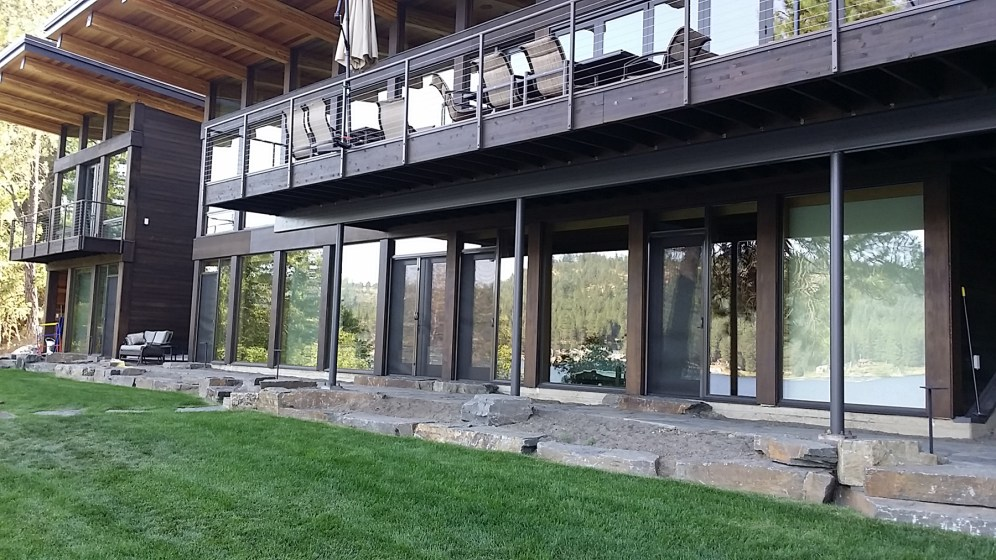 French Door to Stone Deck