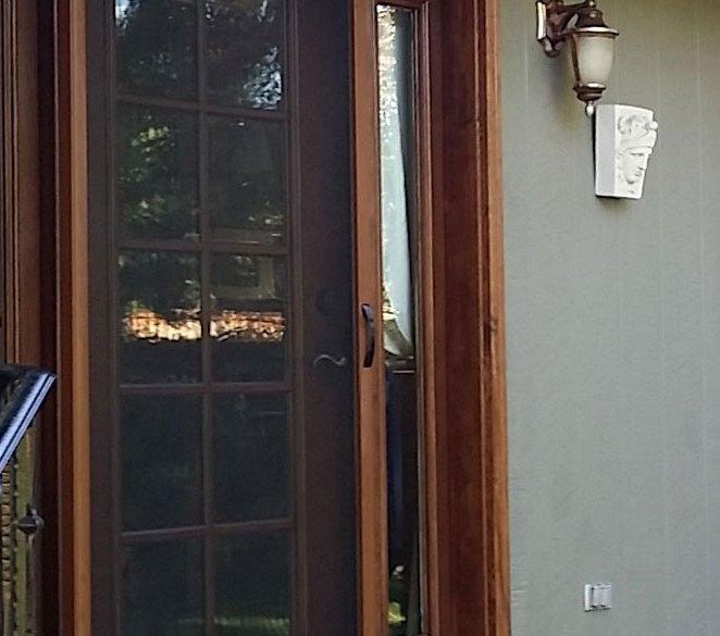 Single Screen Door on Green Home