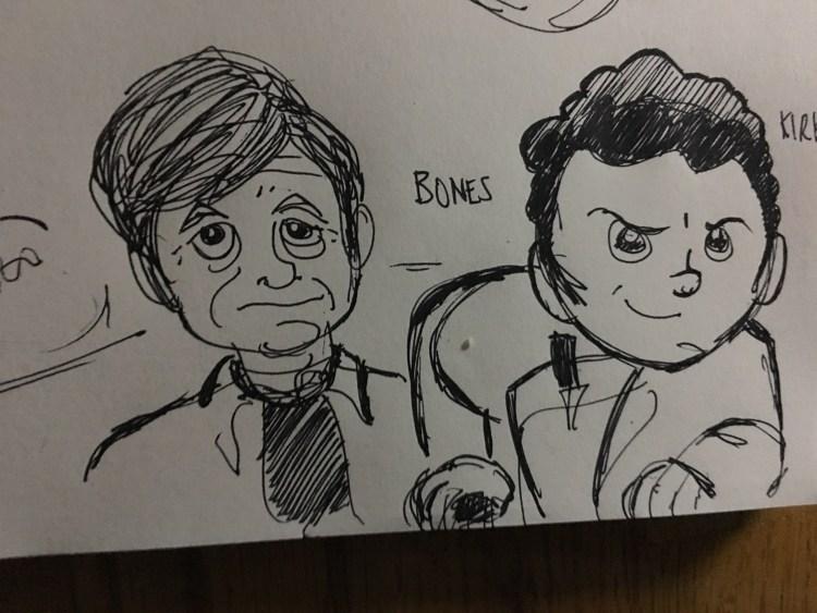 bones and kirk doodle