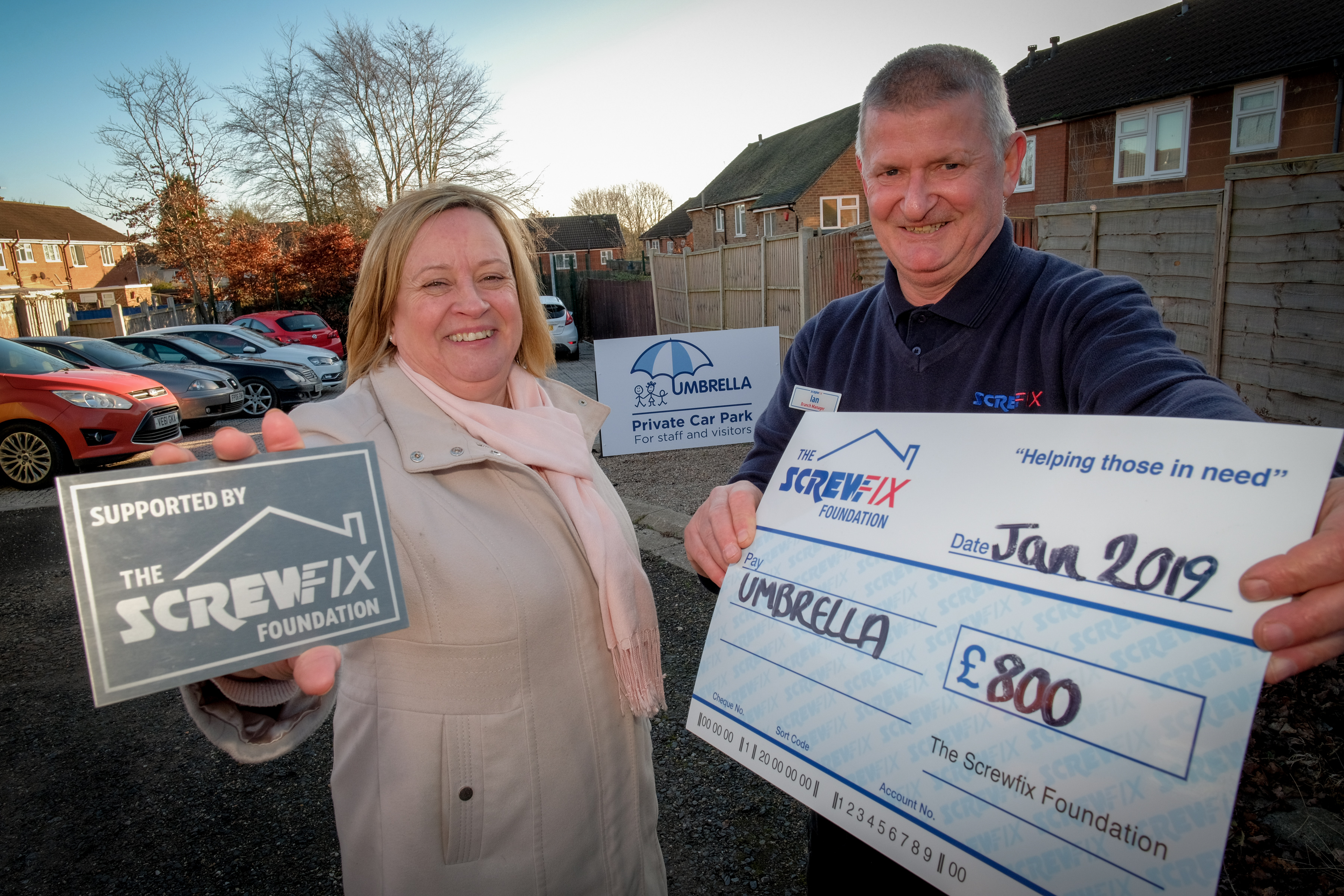 Umbrella gets a helping hand from the Screwfix Foundation