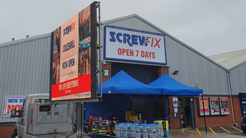Coleshill celebrates new Screwfix store opening