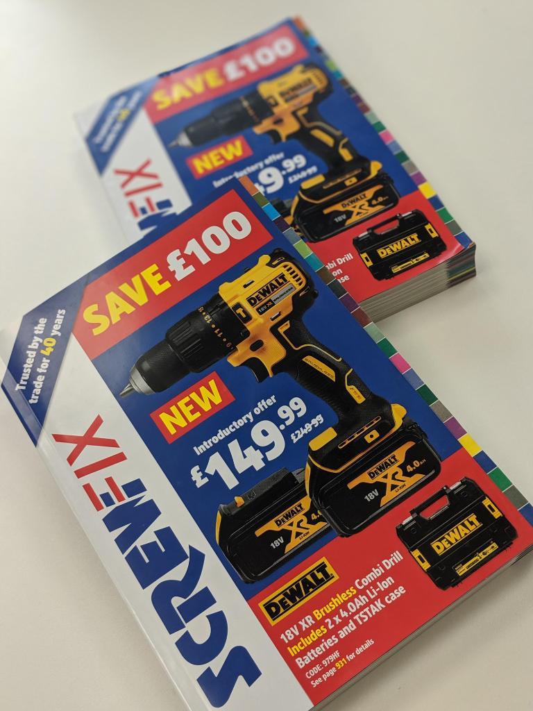 Save £100 on the brand new DeWalt 18V XR Brushless Drill
