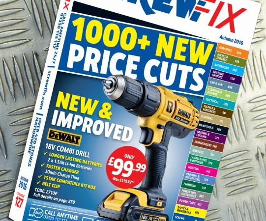 Latest Screwfix catalogue out now – with 1,000 price cuts