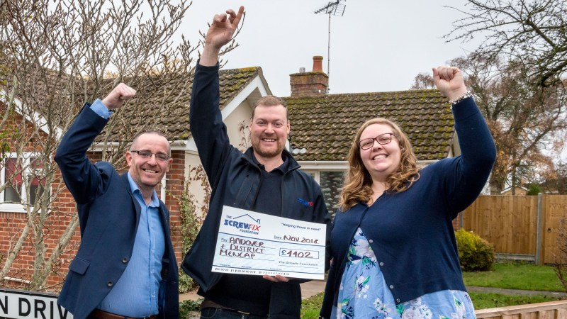 Andover and District Mencap gets a helping hand from the Screwfix Foundation