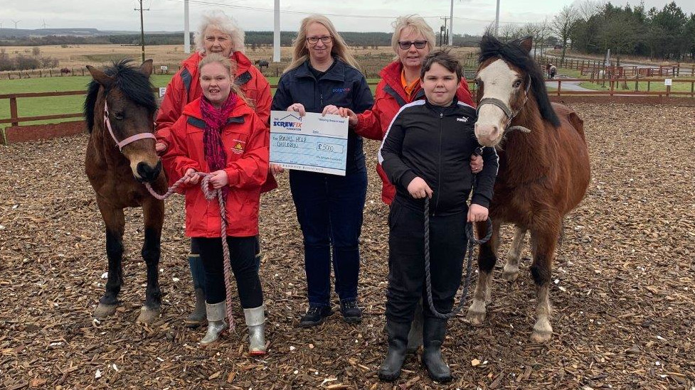 Ponies Help Children charity gets a helping hand from the Screwfix Foundation
