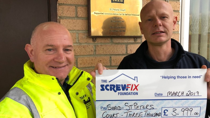 Shaid/St Peters Court charity gets a helping hand from the Screwfix Foundation