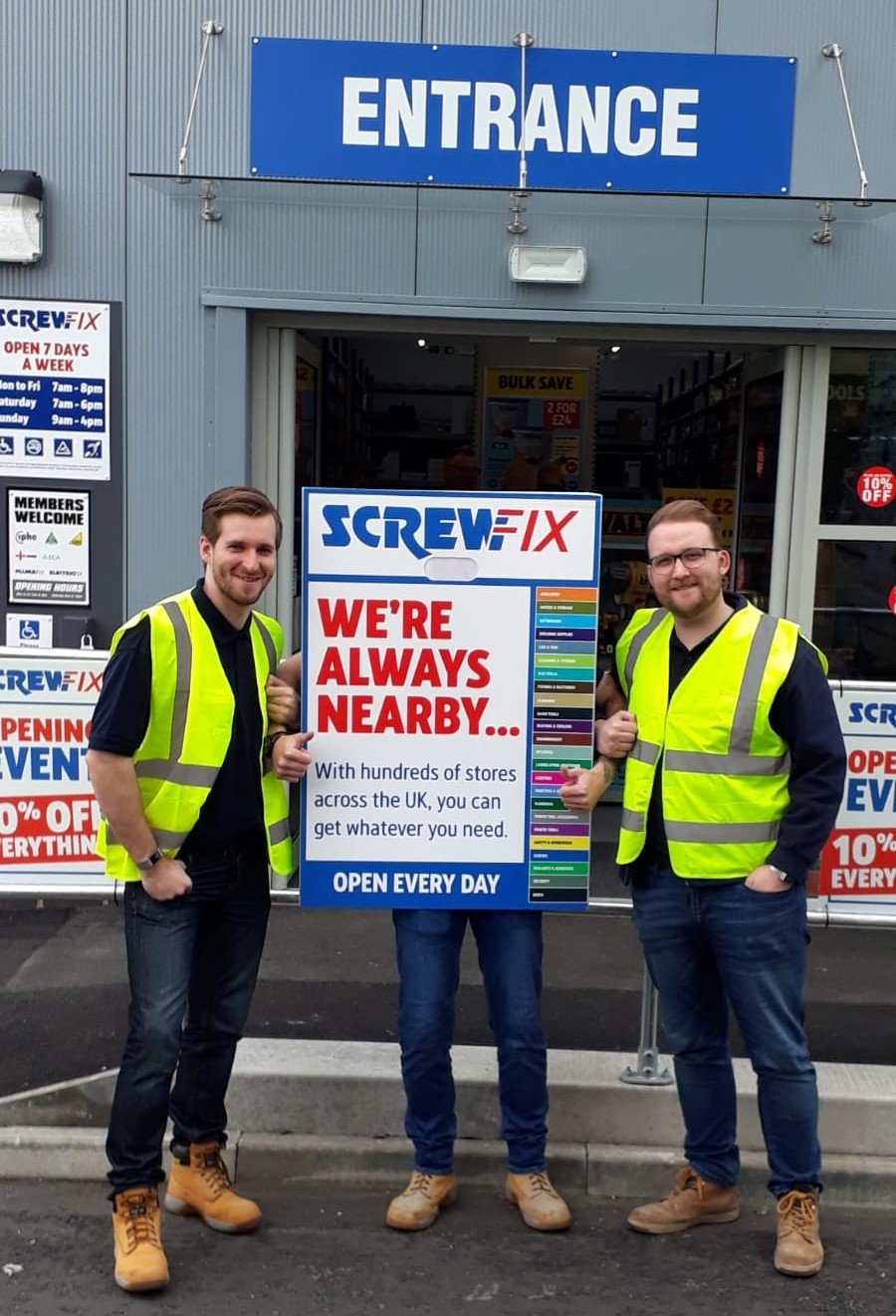 Screwfix opens its doors in Linlithgow