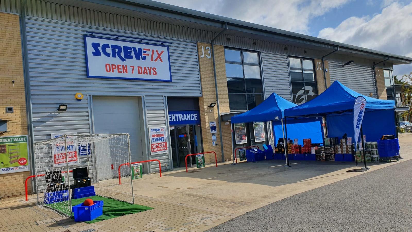 Ascot celebrates new Screwfix store opening