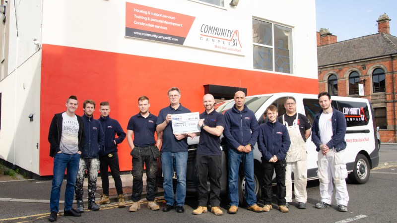 The Screwfix Foundation supports Community Campus 87 in Stockton