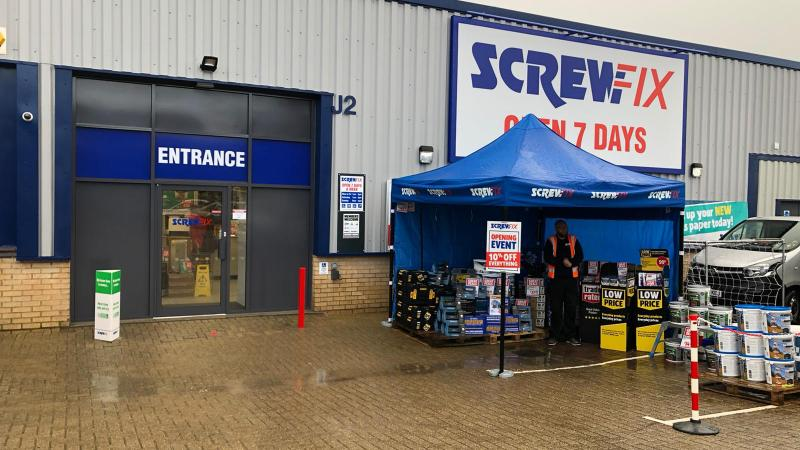 Screwfix celebrates Horndean store opening