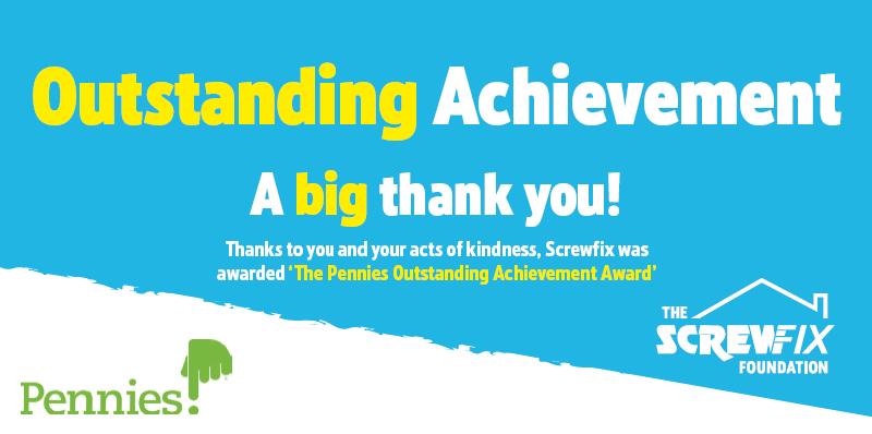 Screwfix wins the Pennies Outstanding Achievement Award
